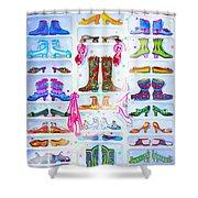 Alaska Berry Fairy Shoon Shower Curtain