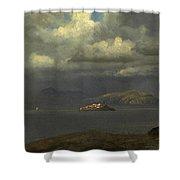 Alcatraz San Francisco Bay Shower Curtain
