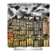 Amsterdam Water Canals Shower Curtain