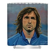 Andrea Pirlo Shower Curtain by Paul Meijering