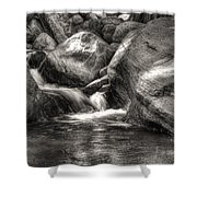 Andreas Creek Waterfall Shower Curtain