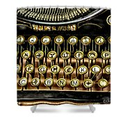 Antique Keyboard Shower Curtain