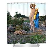 Apollo Circular Sacred Building Shower Curtain