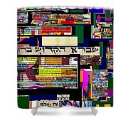 Atomic Bomb Of Purity 7 Shower Curtain by David Baruch Wolk