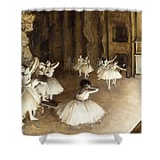 Ballet Rehearsal On Stage Shower Curtain