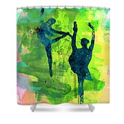 Ballet Watercolor 1 Shower Curtain