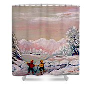 Beautiful Winter Fairytale Shower Curtain