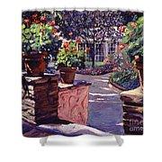 Bel-air Gardens Shower Curtain by David Lloyd Glover