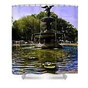 Bethesda Fountain - Central Park  Shower Curtain