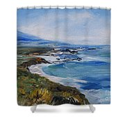 Big Sur Coastline Shower Curtain