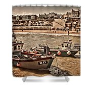Boats At Broadstairs Shower Curtain
