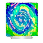 Bold And Colorful Phone Case Artwork Lovely Abstracts Carole Spandau Cbs Art Exclusives 134  Shower Curtain by Carole Spandau