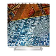 Bottom Of A Foot Of Reclining Buddha In Wat Po In Bangkok-thail Shower Curtain