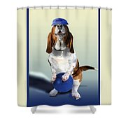 Bowling Hound Shower Curtain