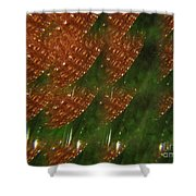 Brilliant Green Abstract 2 Shower Curtain