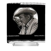 Broderick Crawford  All The King's Men Homage 1949 Gallery In The Sun Tucson Arizona Shower Curtain