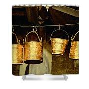 Buckets At Esfahan Market Shower Curtain