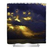 Byron Bay Sunset Shower Curtain