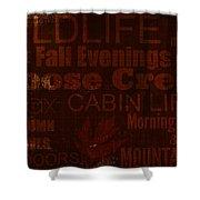 Cabin Life Shower Curtain