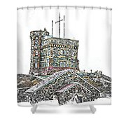 Cabot Tower Shower Curtain