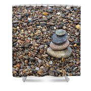 Cairn On Wet Pebbles Shower Curtain