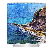 California Coastline  Shower Curtain by David Lloyd Glover