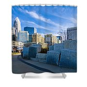 Charlotte Nc  View Of Charlotte Skyline  Shower Curtain