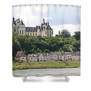 Chateau De Chaumont Stands Above The River Loire Shower Curtain