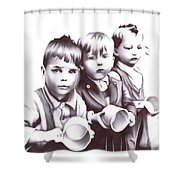 Children Should Not Need Food ... Shower Curtain
