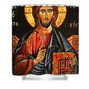 Christ The Pantocrator Icon II Shower Curtain