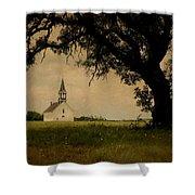 Church On The Plain Shower Curtain