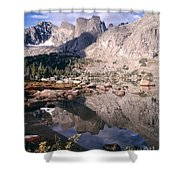 Cirque Of The Towers In Lonesome Lake   Shower Curtain