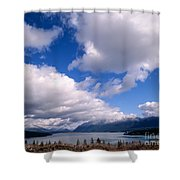 Clouds Over Lake Quinault Shower Curtain