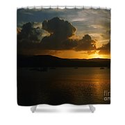 Cloudy Sunset Shower Curtain