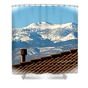 Cold Day New Snow Up There Shower Curtain