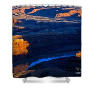Colorado River Sunset Shower Curtain