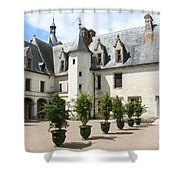 Courtyard Chateau Chaumont Shower Curtain