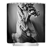 Creepy Young Girl Shower Curtain