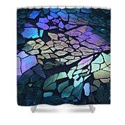 Cut Glass Mosaic  Shower Curtain