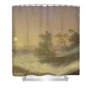 Dancing Fairies Shower Curtain by August Malmstrom