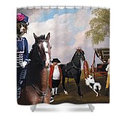 Drentse Patrijshond Art Canvas Print - The Prince Of Waless Phaeton  Shower Curtain