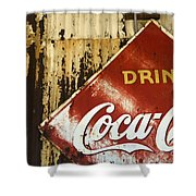 Drink Coca Cola  Memorbelia Shower Curtain