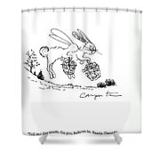 Easter Bunny Truth  Shower Curtain