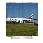 Emirates Boeing 777 Shower Curtain