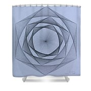 Energy Spiral Shower Curtain