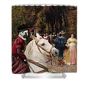 English Bulldog Art Canvas Print - Les Fiances Shower Curtain