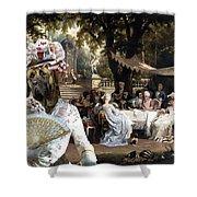 English Mastiff  - Mastiff Art Canvas Print - The Garden Party Shower Curtain