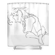 Erotic-line-drawings-23 Shower Curtain