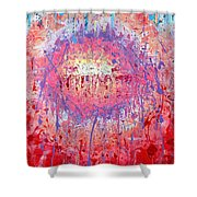 Rich Texture Abstract Painting Shower Curtain