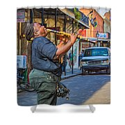 Feel It - Doreen's Jazz New Orleans 2 Shower Curtain